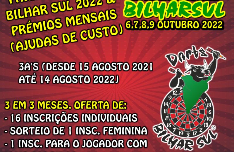 3A's e Apuramento para o Open Internacional Bilhar Sul 2022