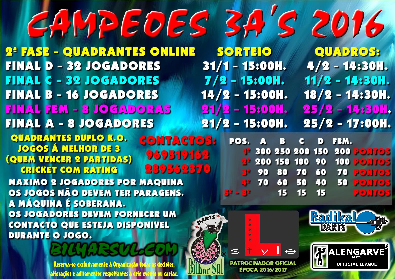 Campeões 3A's 2016