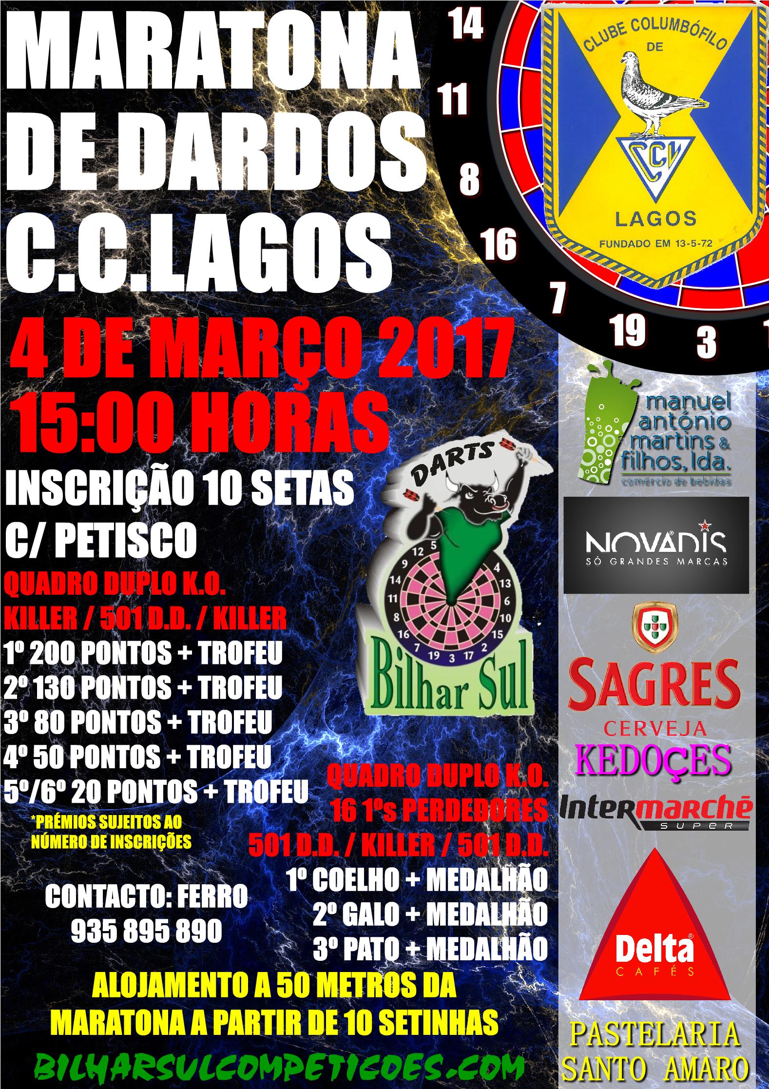 Maratona de Dardos – C.C.Lagos
