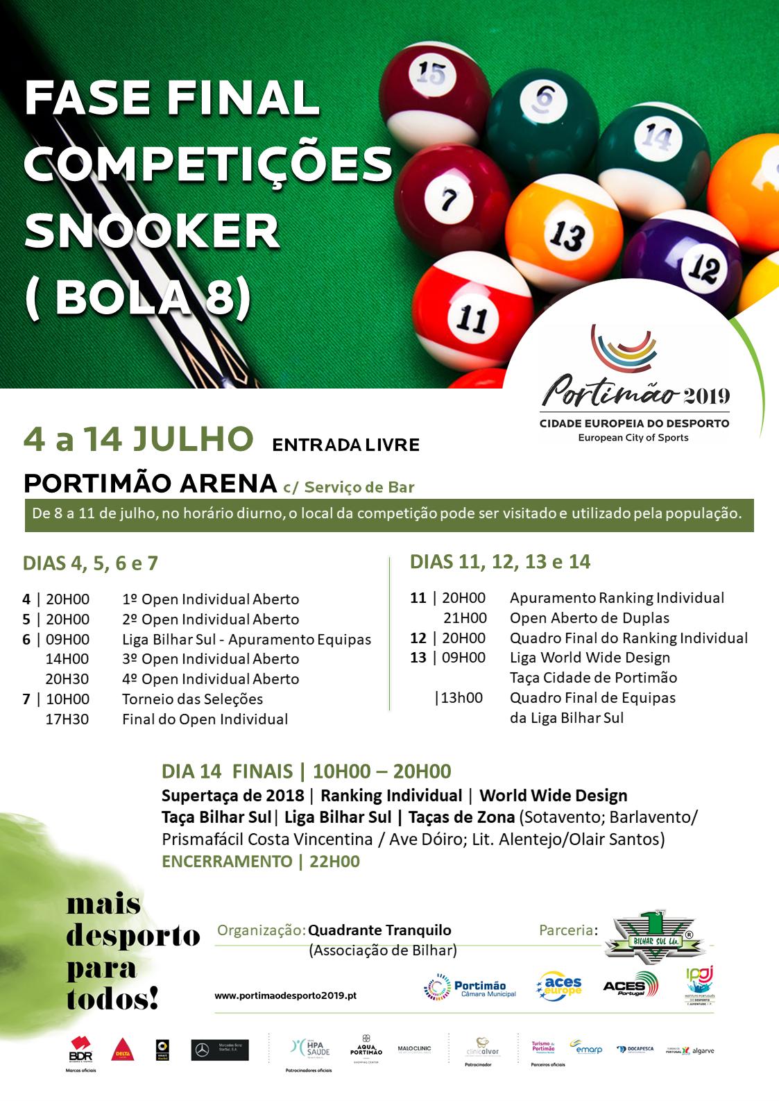 Fase Final Competições Snooker (bola 8)